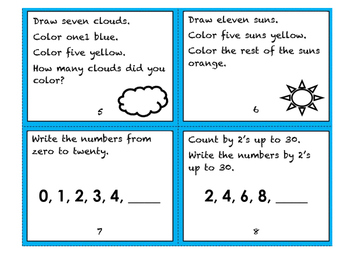 Following Directions Task Cards w/ Math Reasoning