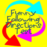 Following Directions Test -- Fun Activity for Beginning of the Year