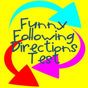 Following Directions Test -- Fun Activity for... by Fearless 5th ...