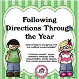 Listening and following directions - simple to complex