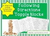 Following Directions Topple Blocks
