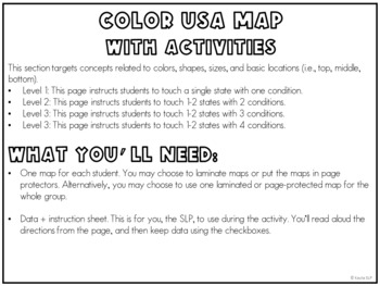 following directions usa geography by kayla slp tpt