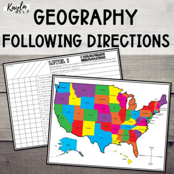 Following Directions: USA Geography