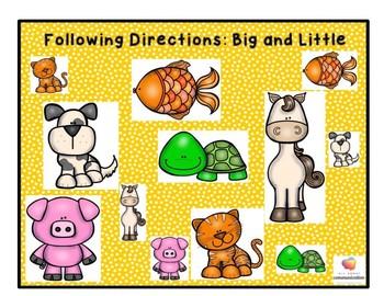 Following Directions Using Basic Concepts-Play-doh Smash Mats