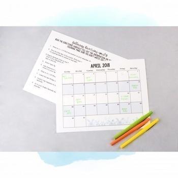Following Directions Using a Calendar