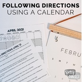 Following Directions Using a Calendar #June2021HalfOffSpeech