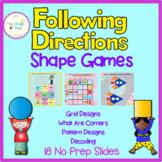 Shape Games- Slides - Following Directions - Visual Perceptual Skills - OT