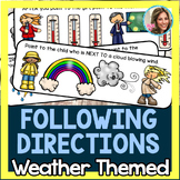 Following Directions Weather Themed {FLASH FREEBIE}