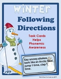 Following Directions Winter Task Cards