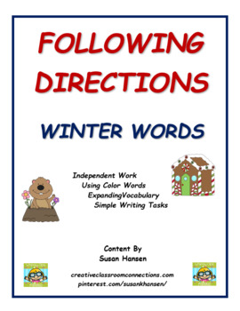 Following Directions: Winter Words