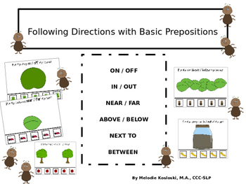 Following Directions With Basic Prepositions
