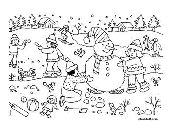 WINTER WORKSHEET: Following Multi-Step Directions by The Crafty OT