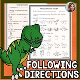 Following Directions Worksheets | Listening Skills | Speech Therapy Worksheets