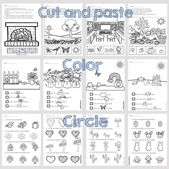 Following Directions Worksheets Bundle