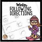 Following Directions Worksheets | Winter Speech Therapy Activities