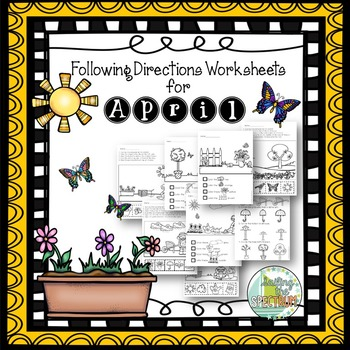 Following Directions Worksheets for April