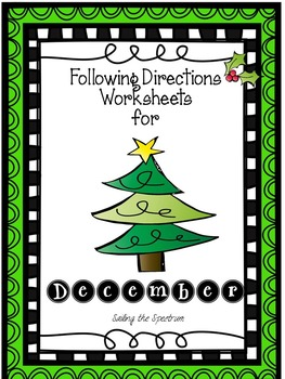 Following Directions Worksheets for December