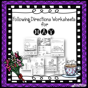 Following Directions Worksheets for May
