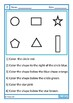 Following Directions Worksheets to Color, Fine Motor, Autism Special Education