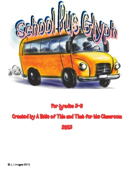 School Bus Glyph: Following Directions and Listening  Skills Activities