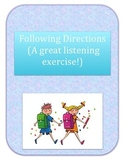 Following Directions and Listening Skills Packet