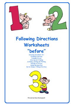 Following Directions    before
