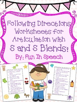 Following Directions for Articulation with S and S Blends!