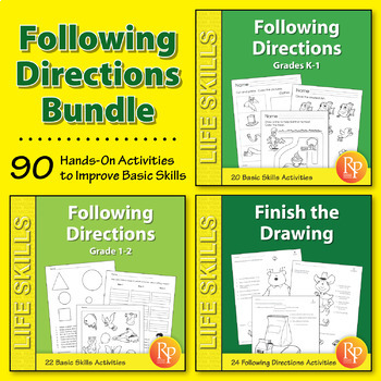Following Directions for Early Learners {Bundle}