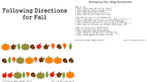 Following Directions for Fall