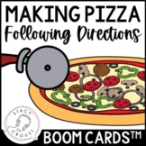 Following Directions To Make Pizza Boom Cards™ No Print Te