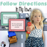 Following Directions Activities in My Town Speech Therapy