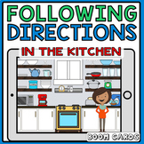 Following Directions in the Kitchen | Boom Cards |  Speech