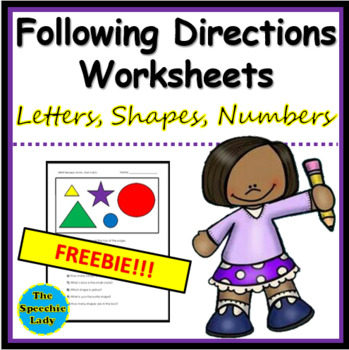 Following Directions - letters, shapes, numbers
