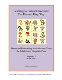 Dyslexia Following Directions the Fun and Easy Way -Beginners 2