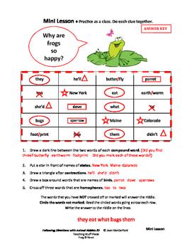 FOLLOW DIRECTIONS  ANIMAL Riddles # 2  Animal Vocabulary  Language  Gr 3-4-5