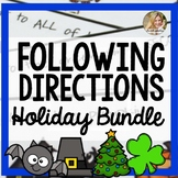 Following Directions Holiday Bundle | Halloween Speech Therapy
