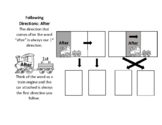 Following Directions with Before & After - visual supports & teaching tool