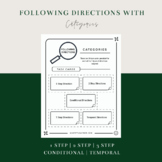 Following Directions Word Retrieval Game for Speech Therapy CATEGORIES