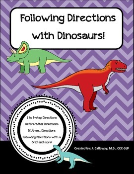 Following Directions with Dinosaurs!