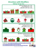 Following Directions with Modifiers - Gift Box Theme