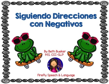 Following Directions with Negatives - Spanish