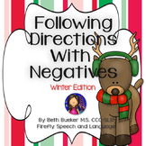 Following Directions with Negatives - Winter Edition