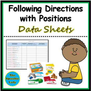 Following Directions with Positions - Charts to Record Responses