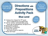 Following Directions with Prepositions Activity Pack Blue Level - Common Core