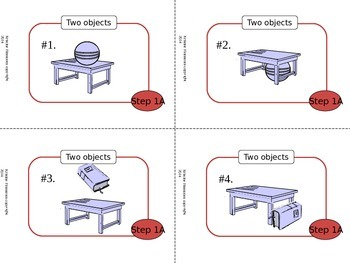Following Directions with Prepositions Activity Pack - Red Level - Common Core