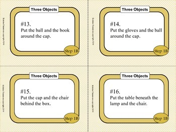 Following Directions with Prepositions Activity Pack Yellow Level - Common Core