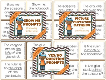 Following Directions with Prepositions - Back-to-School!