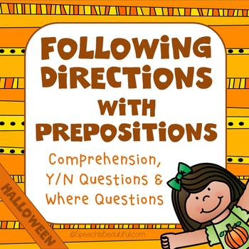Following Directions with Prepositions - HALLOWEEN