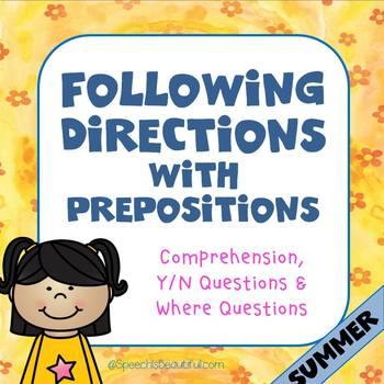 Following Directions with Prepositions - SUMMER {English}