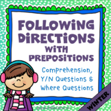 Following Directions with Prepositions - WINTER